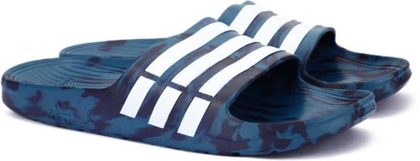 e87eb588b ADIDAS DURAMO SLIDE Flip Flops - Buy CORBLU FTWWHT NOBINK Color ADIDAS  DURAMO SLIDE Flip Flops Online at Best Price - Shop Online for Footwears in  India ...