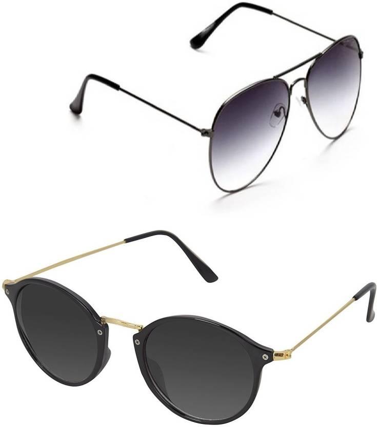34ba96f9994e8 Buy Amour-propre Aviator Sunglasses Black