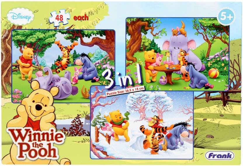 huge discount 2784b 4e376 Frank Winnie the Pooh 3 In 1 (144 Pieces)