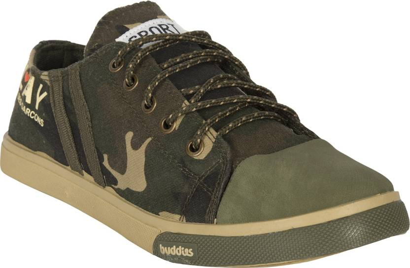 79c1a055aa5d Dailywreck Military Green Canvas Exclusive Casual Sneakers Shoes Sneakers  For Men (Green)
