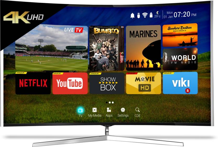 CloudWalker Cloud TV 165cm (65 inch) Ultra HD (4K) Curved LED Smart TV