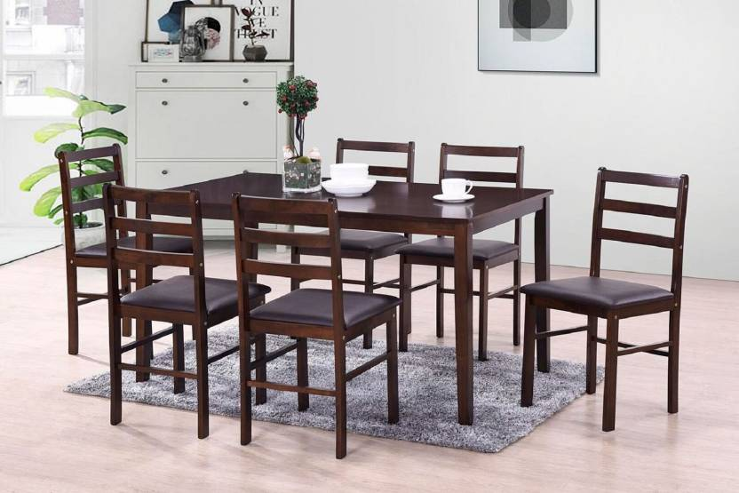 HomeTown Bolton Solid Wood 6 Seater Dining Set
