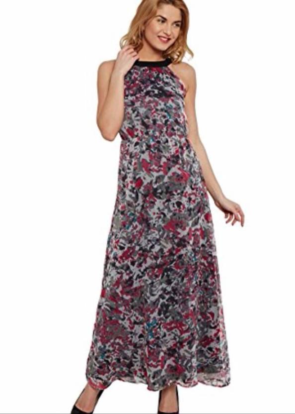 c4c045cd7 The Vanca Women's Maxi Grey Dress - Buy The Vanca Women's Maxi Grey Dress  Online at Best Prices in India   Flipkart.com
