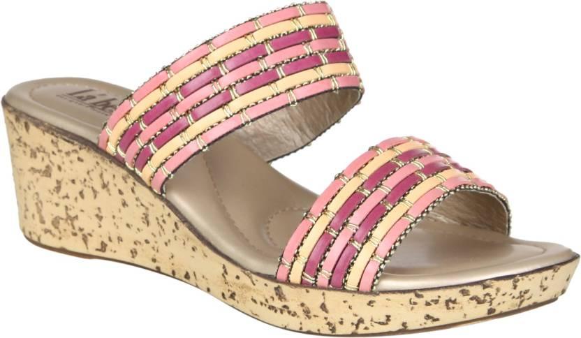 0449f757b La Bella Women Pink Wedges - Buy La Bella Women Pink Wedges Online at Best  Price - Shop Online for Footwears in India