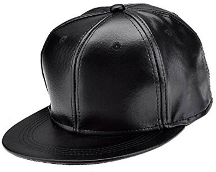 Bolax Solid Stylish Hip Hop Leather Cap - Buy Bolax Solid Stylish Hip Hop Leather  Cap Online at Best Prices in India  54bc74a67b49