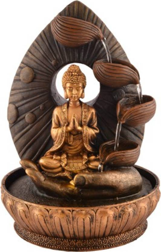 On Gautam Buddha Indoor Water Fountain Showpiece For Home Decoration 02 Decorative 33 Cm