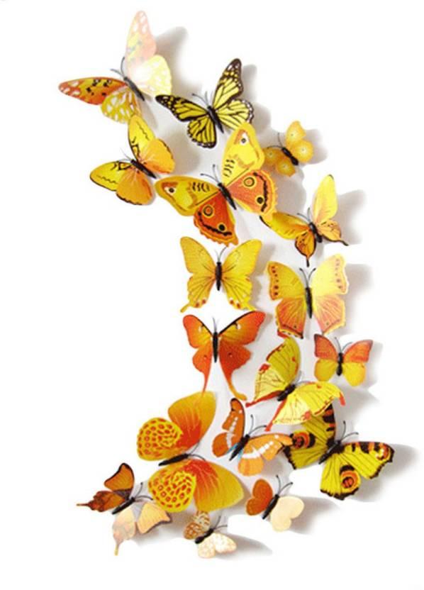 idream medium 12pcs 3d pvc magnet butterfly diy sticker price in