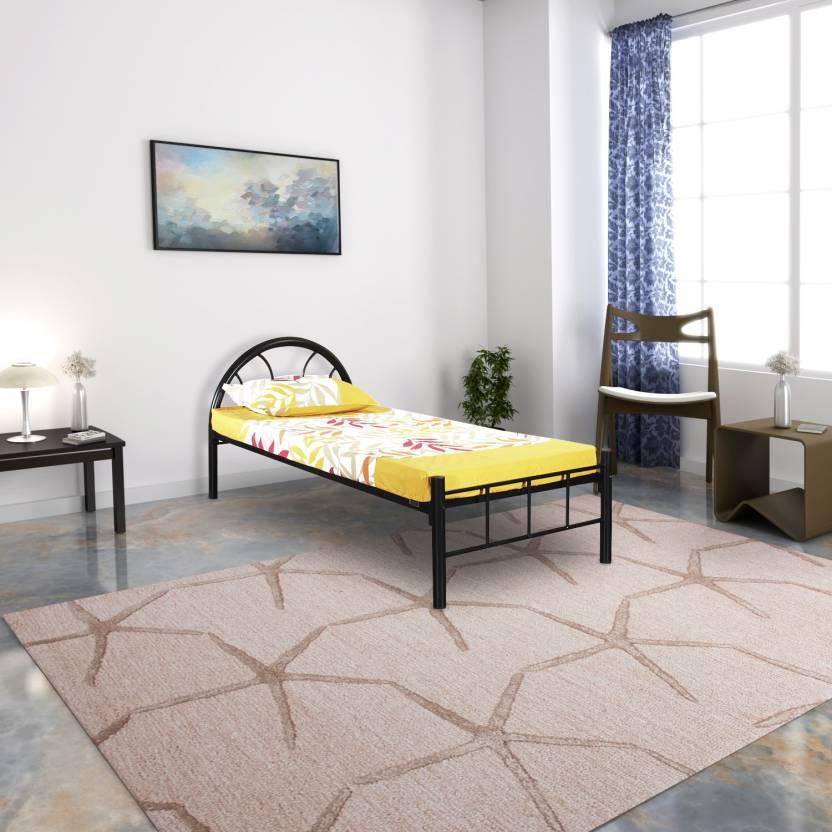 FurnitureKraft Canberra Metal Single Bed