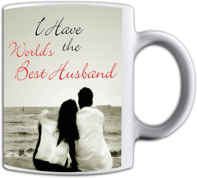 Noozarts I Have The Worlds Best Husband With Love Quotes Ceramic