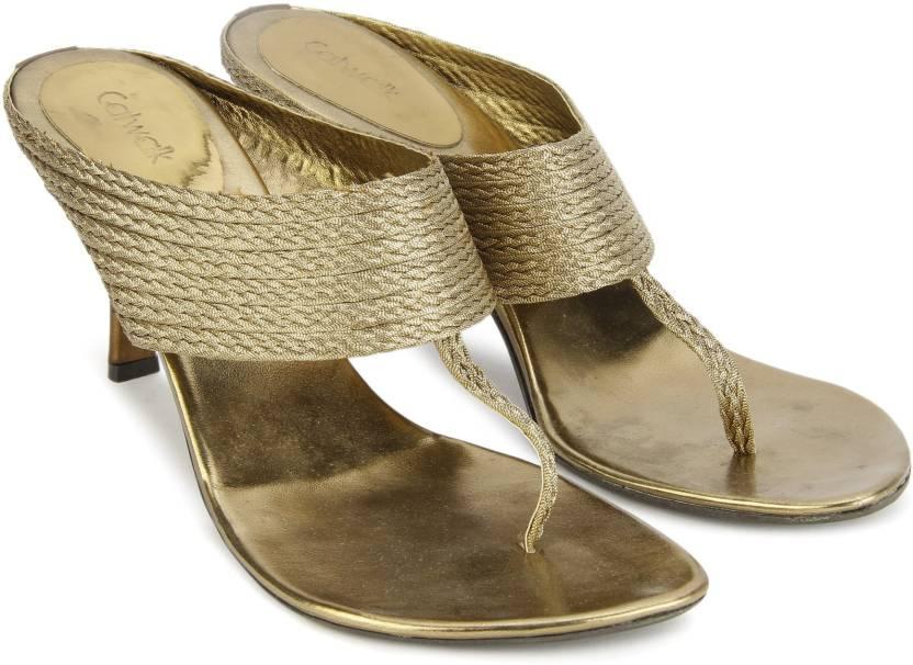 Catwalk Women Bronze Heels