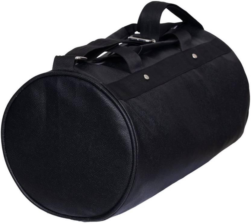 cd5d39eea2eb InkCraft Gym Bag 25Litres Leatherrite Gym Duffle Bag Dyffle Gym Bag (Black