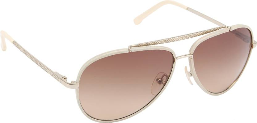 c3690d5662f4 Buy Lacoste Aviator Sunglasses Brown For Men   Women Online   Best ...