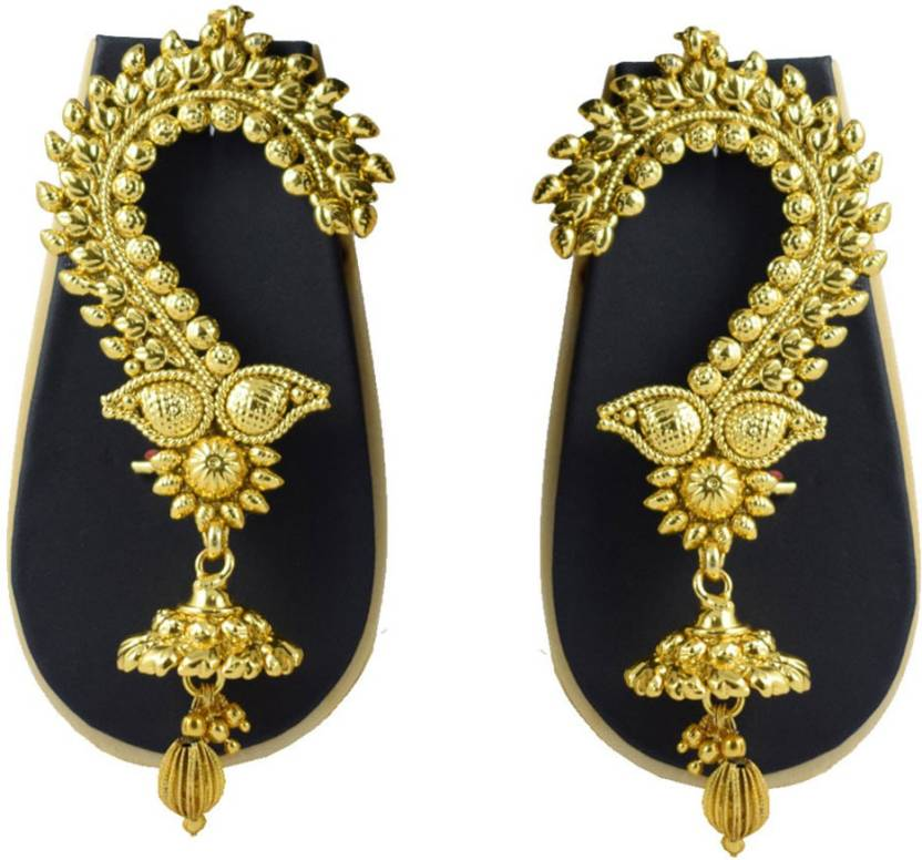 Pourni Exclusive Designer Gold Finish Ear Cuffs Earrings Dlec07 Copper Cuff Earring