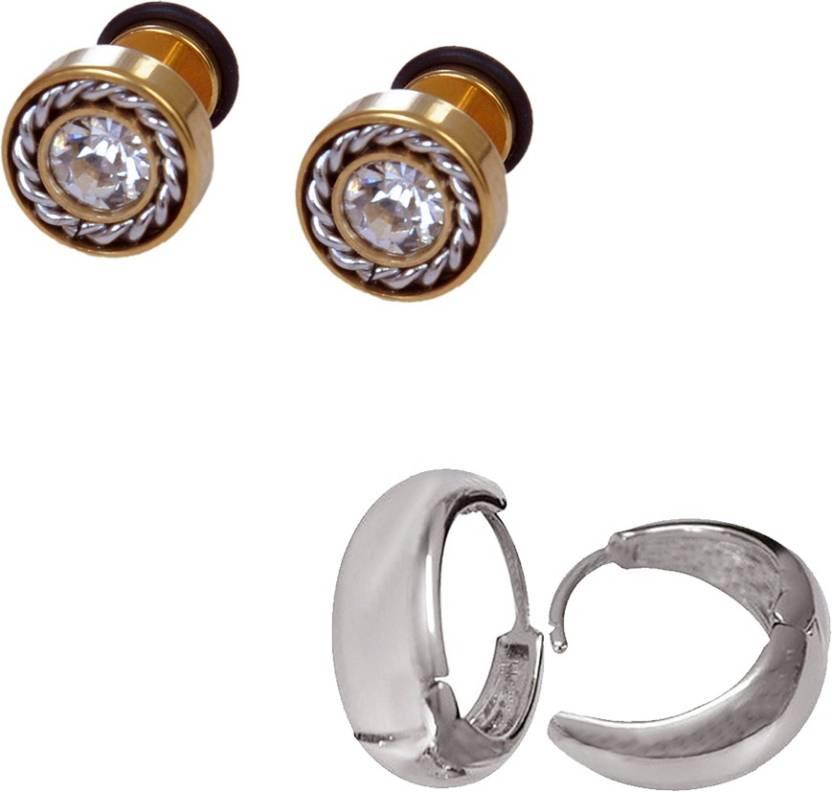 483ef86d3 Flipkart.com - Buy One Point Collections Salman Khan Inspired Bali Stud  Earrings Punk Money Saving Pack Kaju Bali Round Diamond Gold Stud (Pack Of  2) Alloy ...
