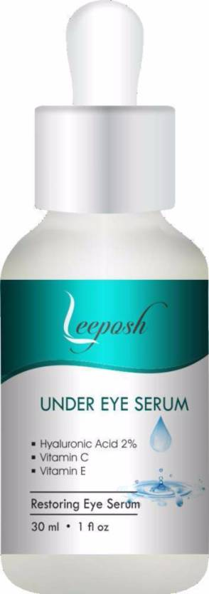 Lee posh Hyaluronic Acid Under Eye Serum with Vitamin C & E Dark Circle  Puffiness Wrinkles Fairness