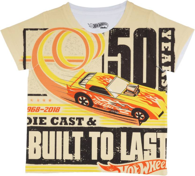 8524d60bb Hot Wheels Boys Graphic Print Polyster T Shirt Price in India - Buy ...