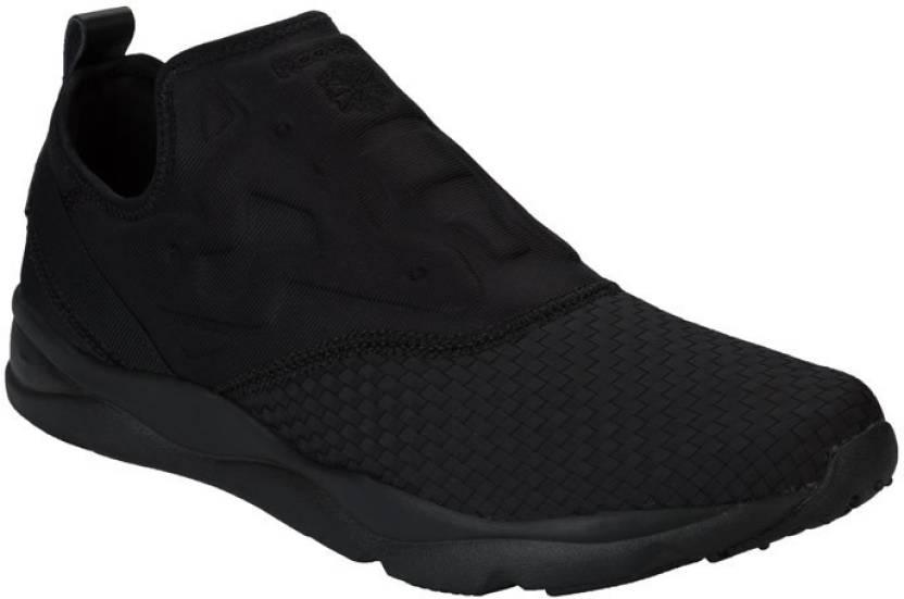f8c1aea729c REEBOK FURYLITE SLIP-ON WW Men Running Shoes For Men - Buy BLACK ...