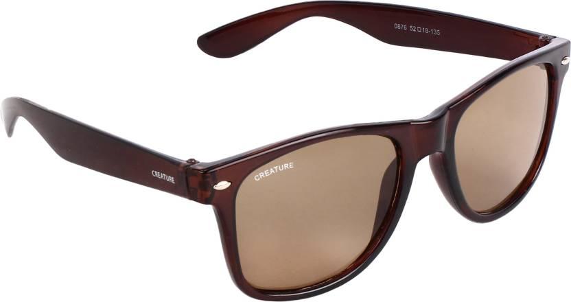 52b62f0791 Buy CREATURE Wayfarer Sunglasses Brown For Men   Women Online   Best ...
