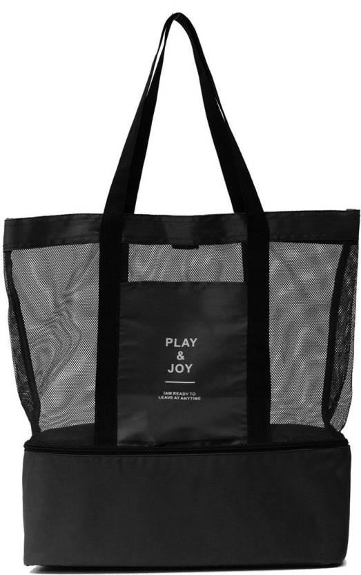 Nk Nylon Play Joy Insulated Cooler Picnic Gym Bag Mesh Beach Tote Sports