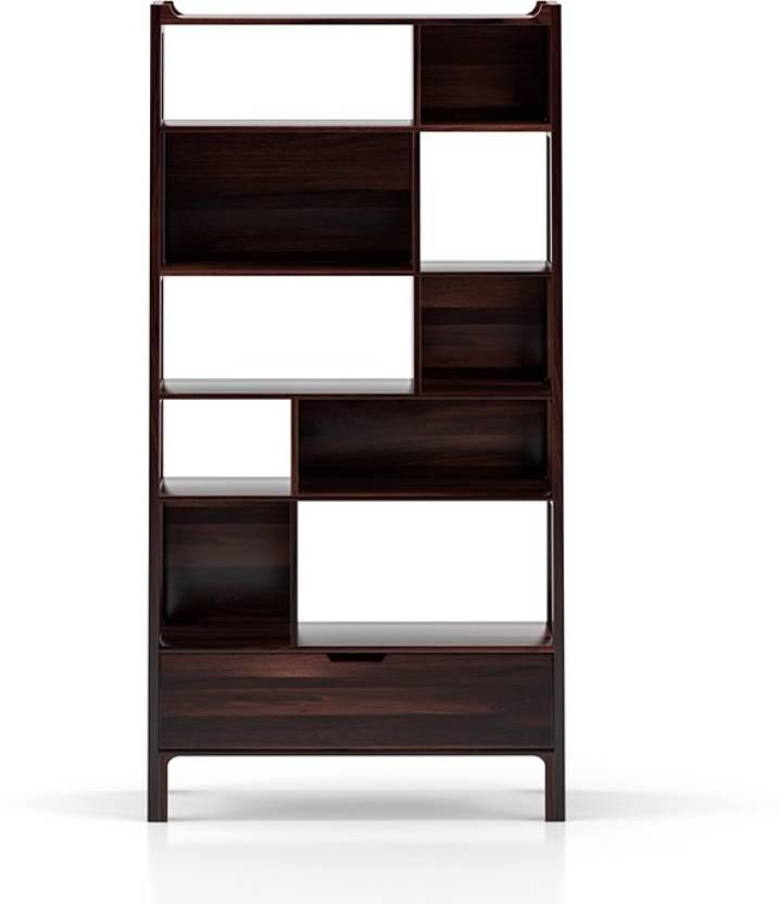 Urban Ladder Alberto Bookshelf Solid Wood Open Book Shelf
