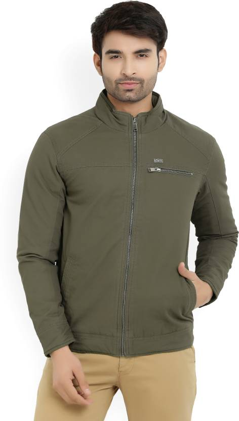 10996b26f1 Numero Uno Full Sleeve Solid Men s Jacket - Buy OLIVE Numero Uno Full  Sleeve Solid Men s Jacket Online at Best Prices in India