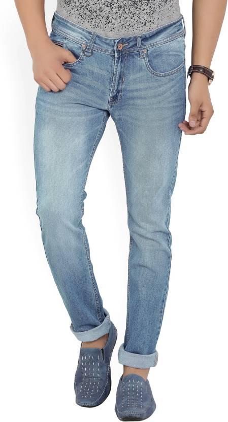 Peter England University Skinny Mens Blue Jeans