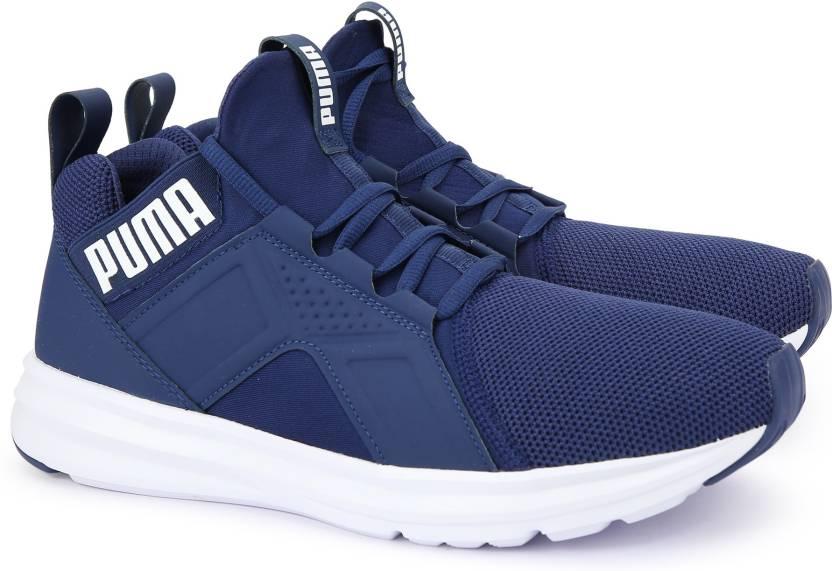 e1dc0c44a54 Puma Enzo Mesh Running Shoes For Men - Buy Blue Depths-Puma White ...