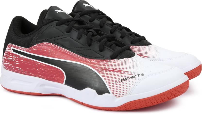 3b030f1477c Puma evoIMPACT 5.3 Badminton Shoes For Men - Buy Puma White-Puma ...
