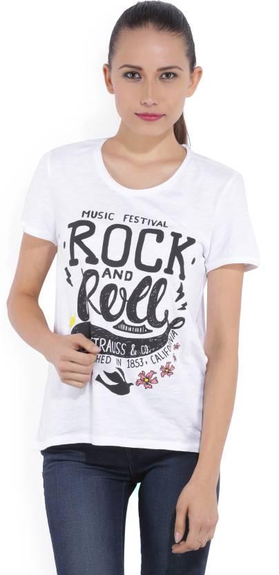 Levi's Printed Women's Round Neck White T-Shirt