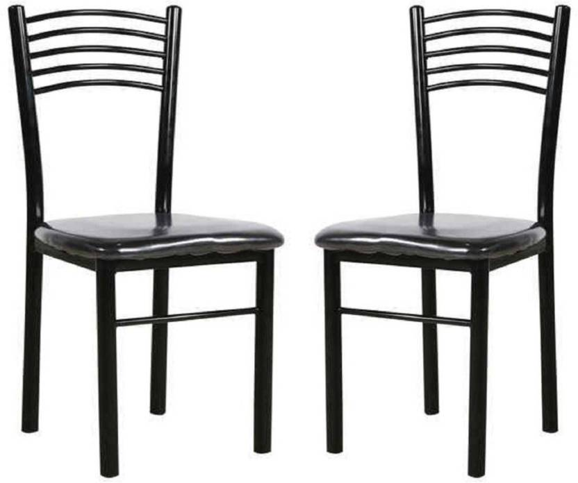 Parin Metal Dining Chair Set Of 2 Finish Color Black