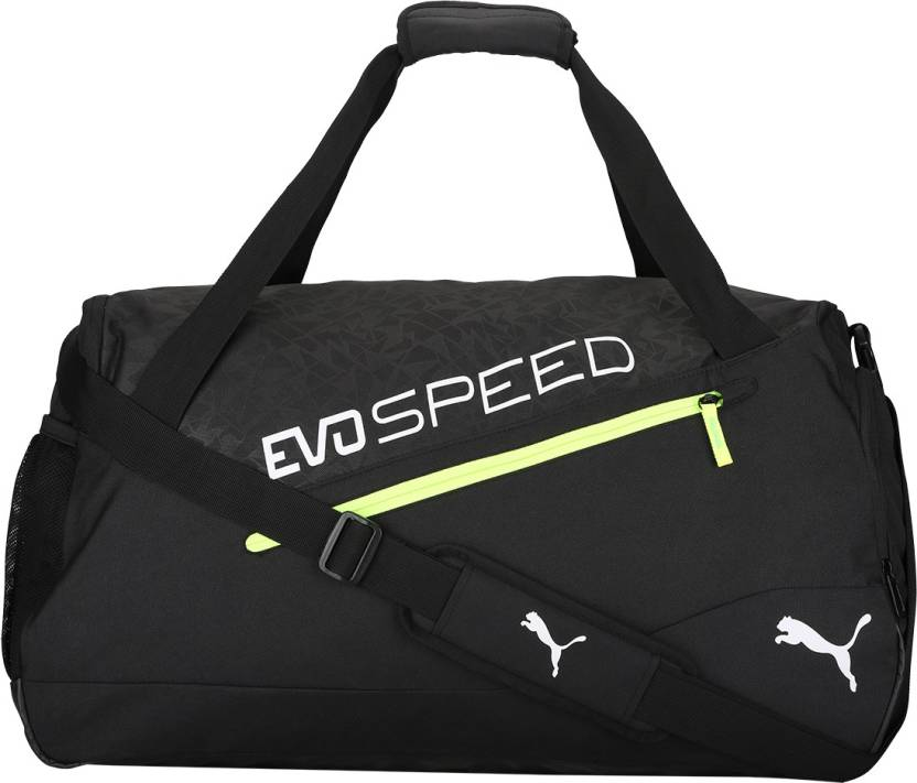 346a45ee1f2a Puma evoSPEED Medium Bag Gym Bag Puma Black-Green Gecko-Safety Yellow -  Price in India