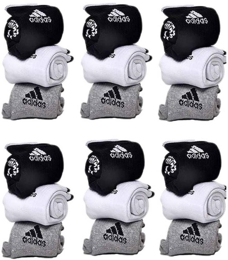 Adidas Mens & Womens Ankle Length Socks  (Pack of 18)