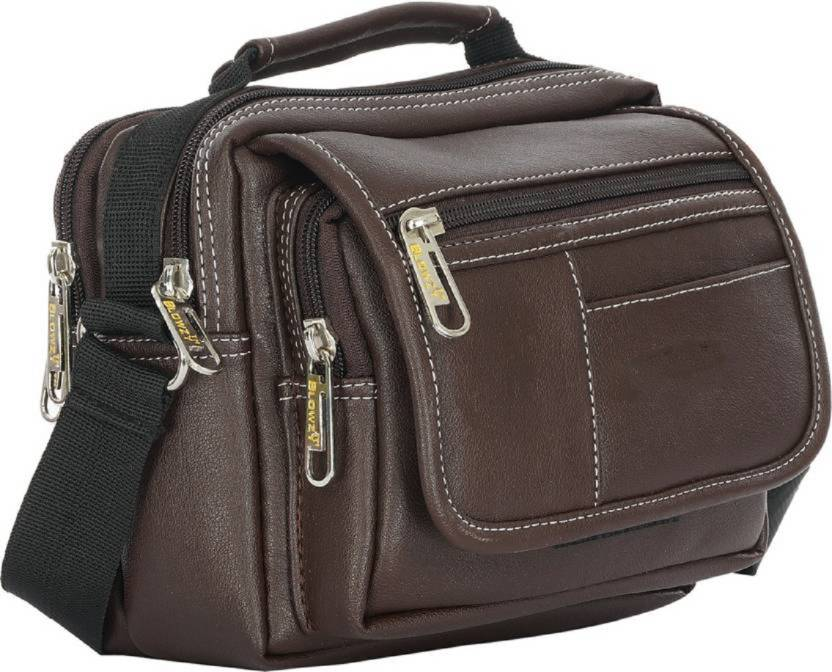 b3c916074e peter india STYLISH MESSENGER BAG Waterproof Messenger Bag (Brown