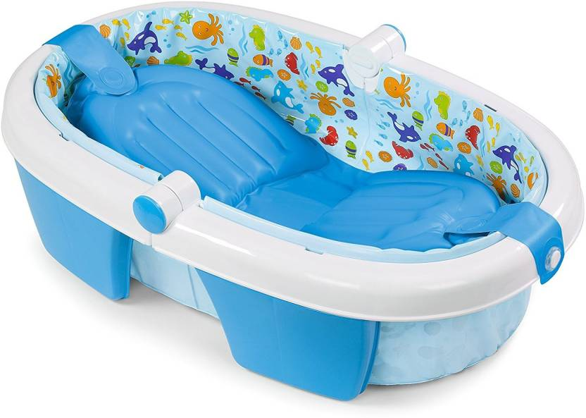 Summer Infants Newborn-To-Toddler Fold Away Baby Bath Tub -Duck ...