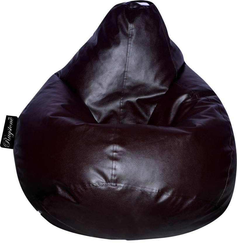 RAGSTONE XXXL Tear Drop Bean Bag Cover  Without Beans  Brown