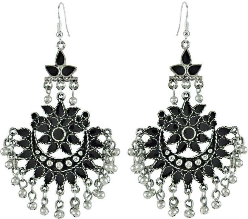 Miska Silver Afghani Style German Chandelier Earring