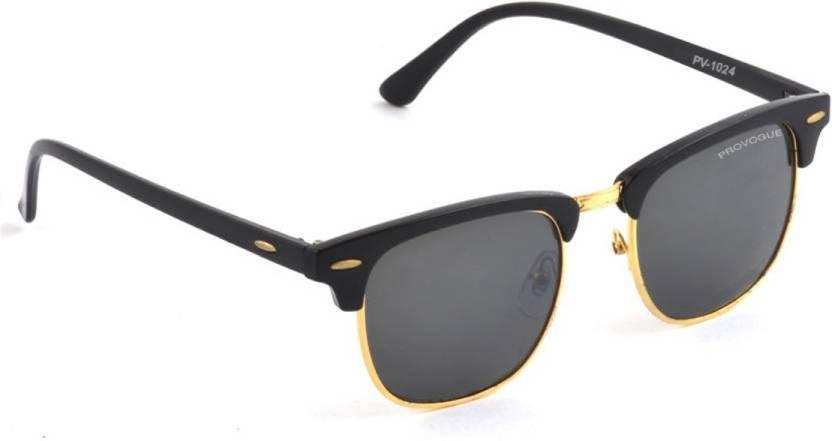 c3497b272e90 Buy Provogue Clubmaster Sunglasses Black For Men Online   Best ...