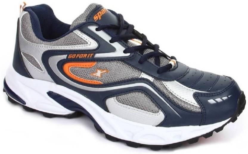 ec9e95dad71c3 Sparx Men's 100% original SM-171 Navy Blue Orange Sport Running Shoes For  Men (Navy)