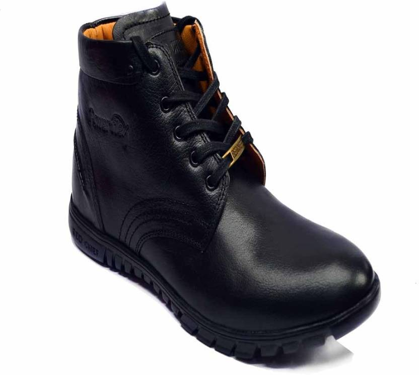 b814ba5edc7 Red Chief Black Boots For Men - Buy Black Color Red Chief Black ...