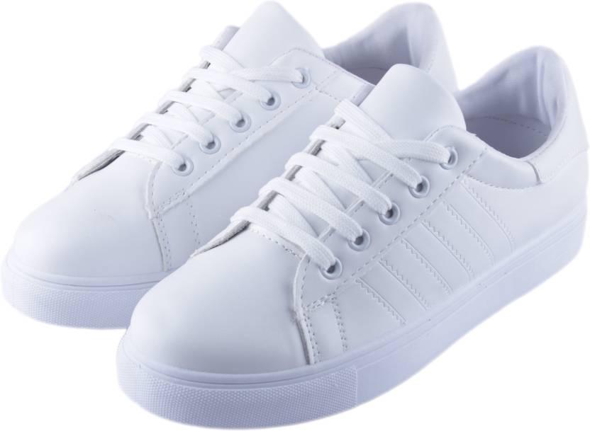 Kickonn White Outdoor Shoewhite Sneaker Shoe White Canvas Shoes
