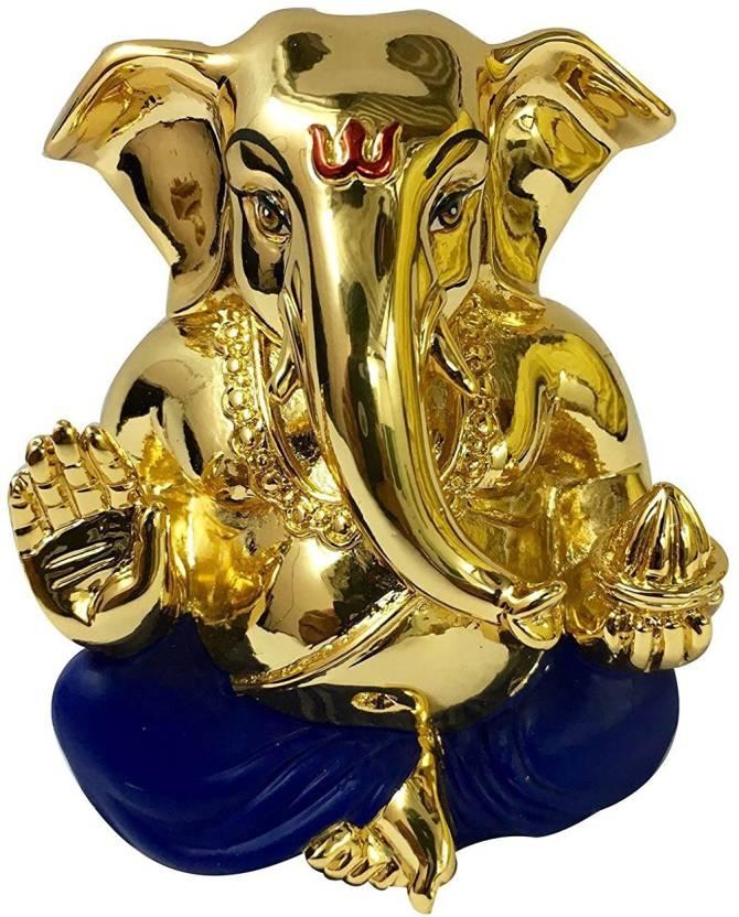 Rp Collections Ganesh Idols Gold Plated Ganesh Idols Idols For Car Dashboard Gold Plated Idols Ganpati Idols For Car Dashboard Gold Plated