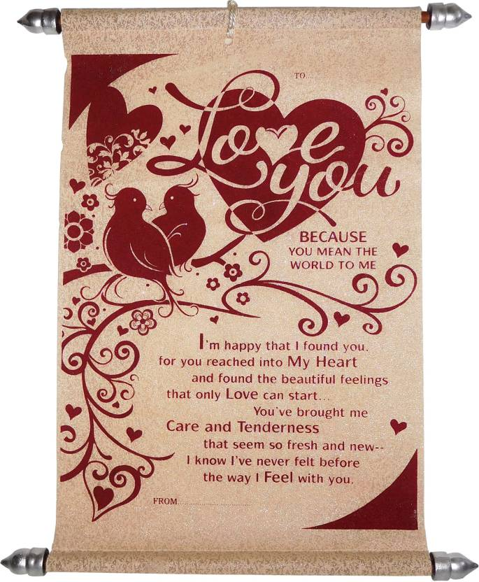 Siddhi gifts love greeting cards for girlfriend love scroll siddhi gifts love greeting cards for girlfriend love scroll greeting card greeting card m4hsunfo