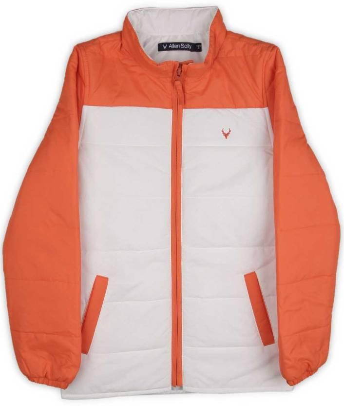 12e74d790 Allen Solly Junior Full Sleeve Solid Boys Jacket - Buy White Allen ...