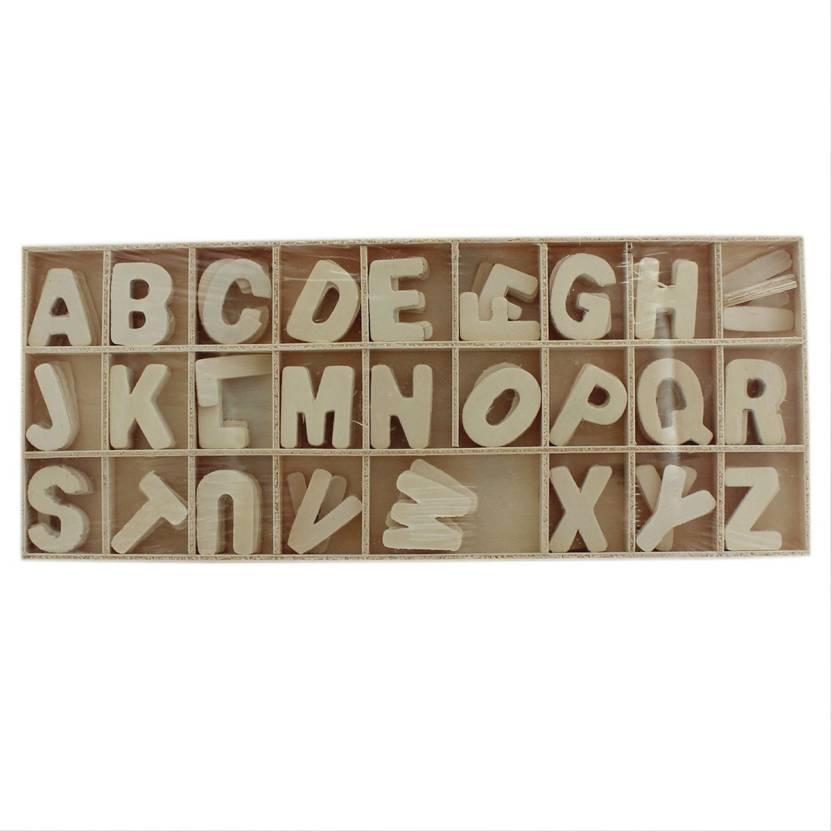 Tootpado Wooden Letter Alphabet Set 130 5 Pcs Each 1l1533