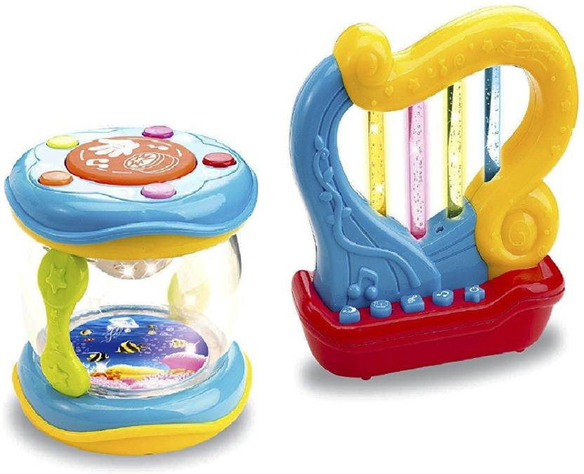 Musical Toys For Toddlers : Toys bhoomi 2 piece set of interactive musical light up sound toy