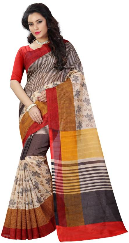 d9e5b85cf34 Buy Style U Printed Bollywood Art Silk Multicolor Sarees Online ...