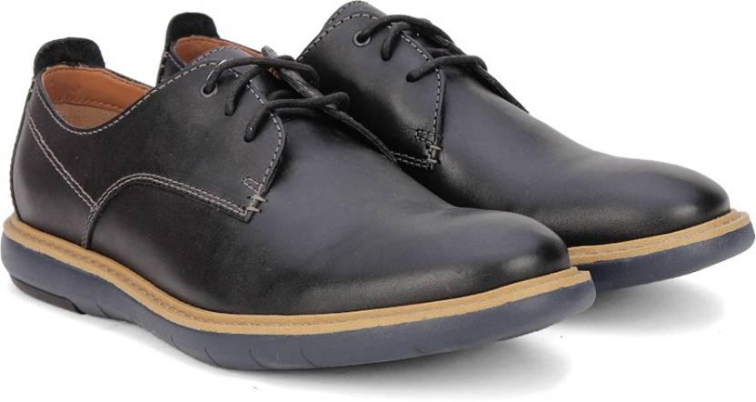 d90c8f8d6f61 Clarks Flexton Plain Black Leather Casual For Men - Buy Black Color ...