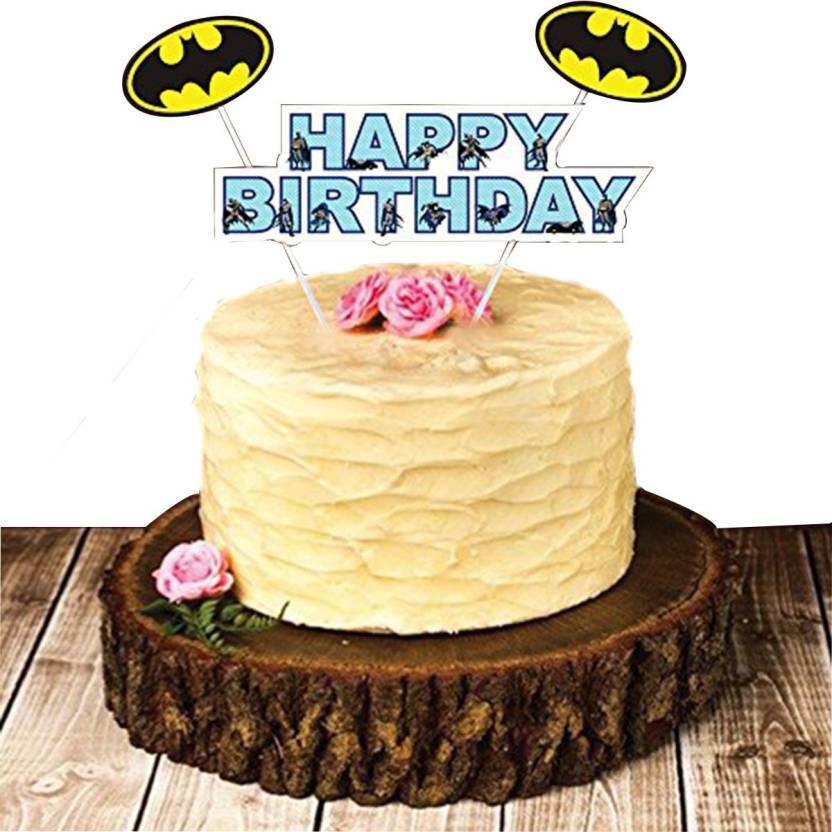 PARTY PROPZ Multicolor CAKE TOPPER SET OF 1 BATMAN BIRTHDAY DECORATION SUPPLIES