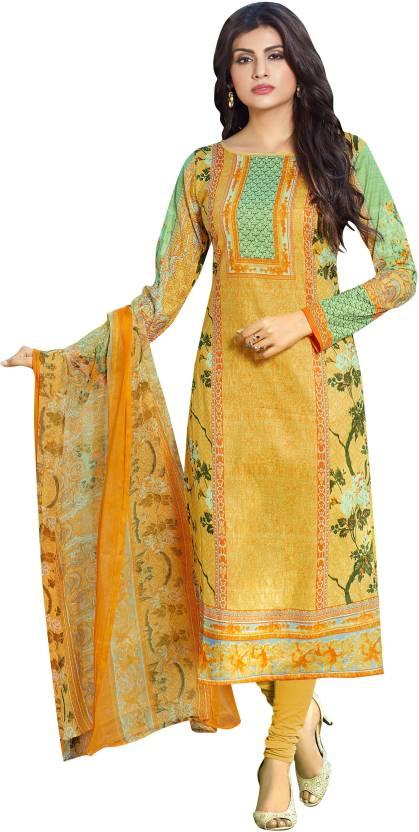 Pisara Lawn Fabric Printed Salwar Suit Dupatta Material