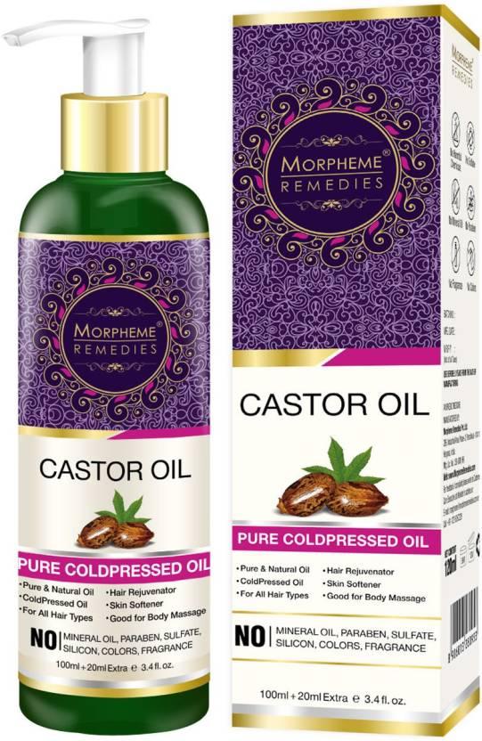 Morpheme Remedies Pure Castor Oil Coldpressed For Hair Eyelashes